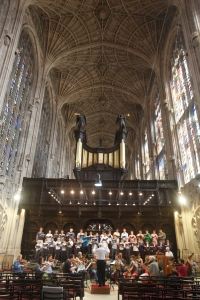 AAM performs in King's College Chapel