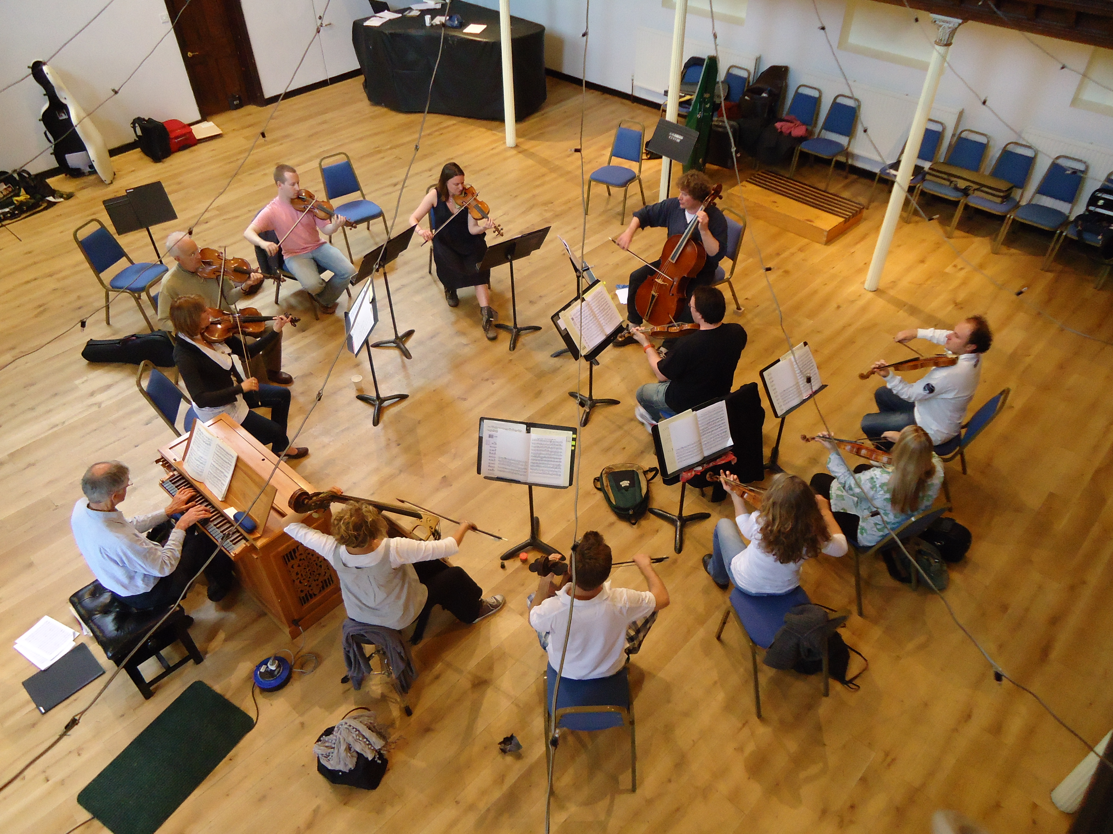 A bird's eye view of an unusual layout for the orchestra « Academy ...