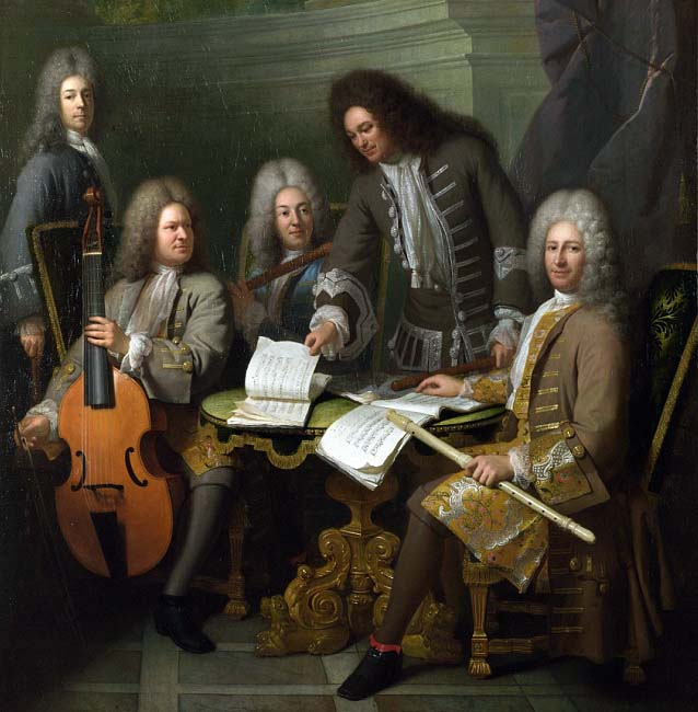 La Barre and Other Musicians, Bouys, c. 1710, oil on canvas
