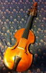 Viola d'amore, made in 1757 by the Englishman John Marshall