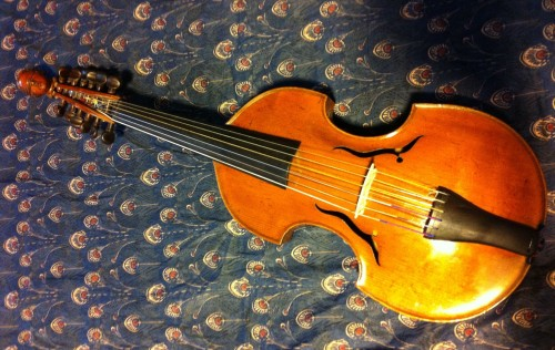Viola d'amore, made in 1757 by the English maker John Marshall